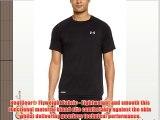 Under Armour Mens Shirt Heatgear Flyweight Run Short Sleeve Tee V2 Black Black/Black/Ref Size:M