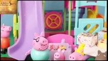 Peppa Pig Park Playground Candy Cat Birthday Party Play-Doh Muddy Puddles DisneyCarToys - MertaCeyon