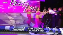 WWE SmackDown The Bella Twins VS Maryse & Natalya