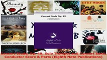Download  Concert Etude Op 49 Solo Trumpet and Concert Band Conductor Score  Parts Eighth Note Ebook Free