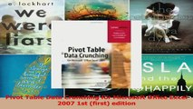 Pivot Table Data Crunching for Microsoft Office Excel 2007 1st first edition PDF