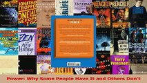 PDF Download  Power Why Some People Have It and Others Dont PDF Online