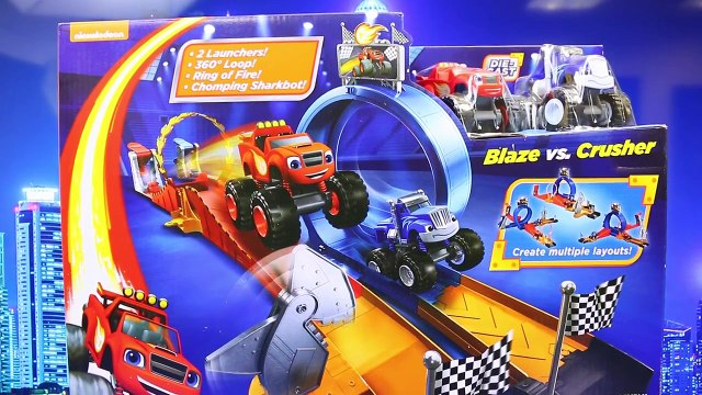 Darrington Blaze and the Monster Machines Monster Dome Car Toy Competing on Race Track Toy Review