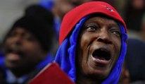 Homeless choir from Atlanta performs at Lincoln Memorial