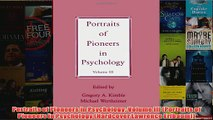Portraits of Pioneers in Psychology Volume III Portraits of Pioneers in Psychology