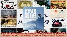 Read  Five Big Mountains A Regular Guys Guide to Climbing Kilimanjaro Aconcagua Vinson Elbrus Ebook Free