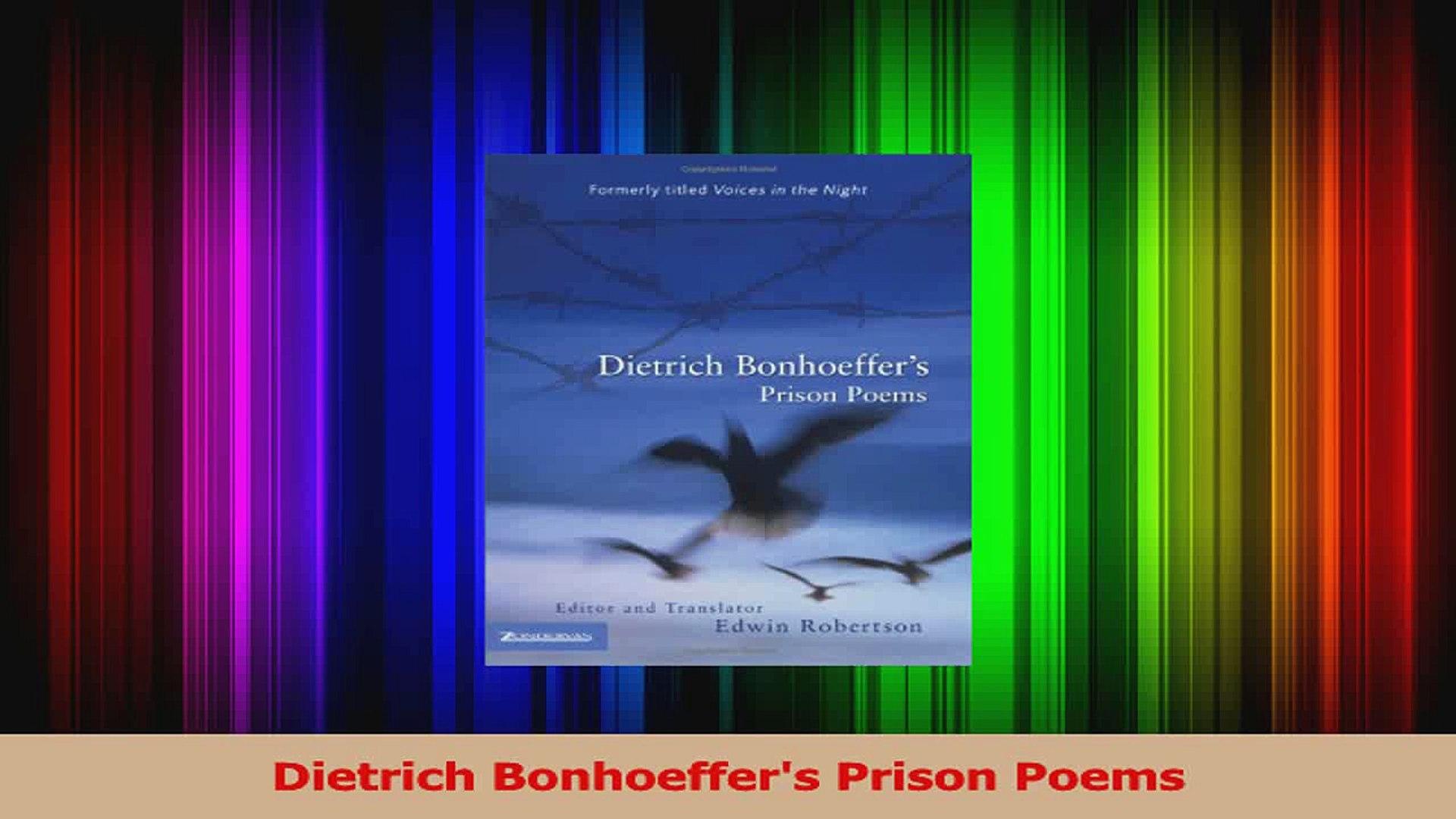 Pdf Download Dietrich Bonhoeffers Prison Poems Download Online