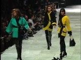 Harper's Bazaar - Carla Bruni Walks Versace's Fall 1991 Runway