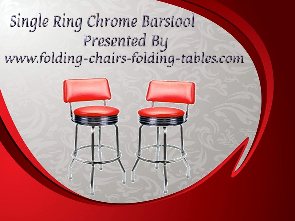 Single Ring Chrome Barstool – Folding Chairs Tables Larry Hoffman