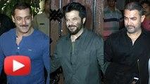 Salman Khan , Aamir Khan, Saif Ali Khan & Celebs At Anil Kapoor Birthday Party 2015