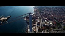 Dinosaur  climbing İstanbul bridge-Camera tracking 3d Animation Adobe With After Effects