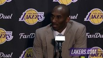 Kobe Bryant Postgame Interview | Bucks vs Lakers | December 15, 2015 | NBA 2015-16 Season
