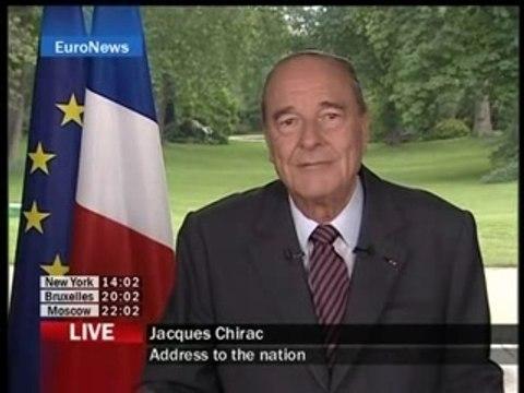 Chirac dernière allocution officielle