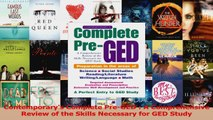 PDF Download  Contemporarys Complete PreGED  A Comprehensive Review of the Skills Necessary for GED PDF Online