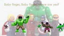 LEGO Avengers Finger Family Song Daddy Finger Nursery Rhymes Black Widow Thor Ironman Hulk