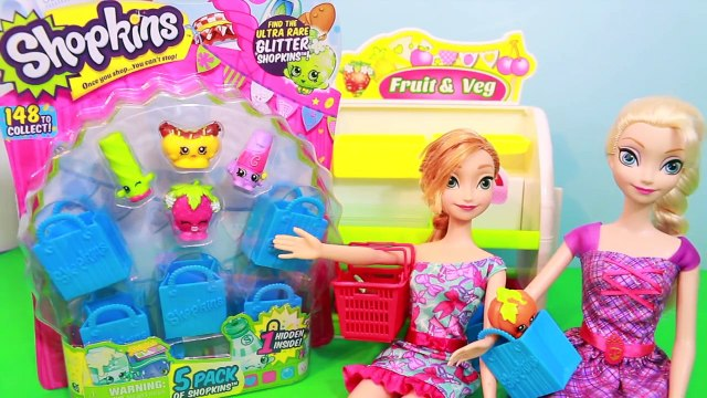 Frozen Shopkins Elsa Anna Shopping Disney Barbie 5 Pack Toys Shopkin Fruit & Veg AllToyCollector