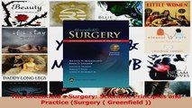 PDF Download  The Greenfields Surgery Scientific Principles and Practice Surgery  Greenfield  Download Online