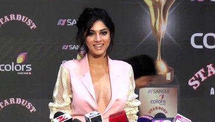 Sapna Pabbi Shocking Dress at Stardust Awards 2015