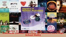 PDF Download  Algebra II Station Activities for Common Core Standards Station Activities for Common Download Full Ebook