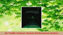 Download  Air Traffic Control Human Performance Factors EBooks Online