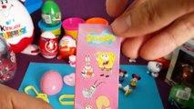 SpongeBob Peppa Pig Kinder Surprise eggs Play Doh Spongebob [MST] Peppa Pig