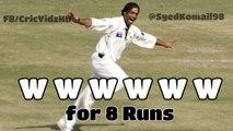 Shoaib Akhter W,W,W,W,W,W for 8 Runs