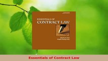 PDF Download  Essentials of Contract Law Download Full Ebook