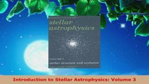 Read  Introduction to Stellar Astrophysics Volume 3 PDF Free