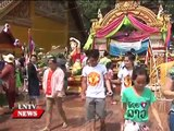 Lao NEWS on LNTV: Vientiane Traffic Police warns Road safety first during Lao New Year.13/
