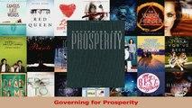 PDF Download  Governing for Prosperity Download Online
