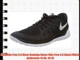 NIKE Nike Free 5.0 Mens Running Shoes Nike Free 5.0 Black/White-Anthracite 10 UK 45 EU
