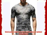 Jimmy Design Mens Printed Sport Short Sleeve Shirt Camouflage Grey Medium Size