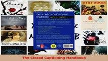 PDF Download  The Closed Captioning Handbook Download Online