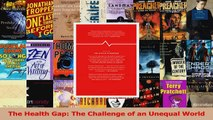 PDF Download  The Health Gap The Challenge of an Unequal World PDF Online
