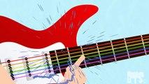 Les couleurs pour les Enfants à Apprendre à la Guitare Électrique Apprentissage de la Musique des Couleurs Pépinière Vidéos
