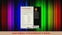 Lean Sigma A Practitioners Guide Read Online