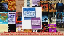 Read  Great Ways to Learn Anatomy and Physiology and Writing for Nursing and Midwifery Students PDF Free