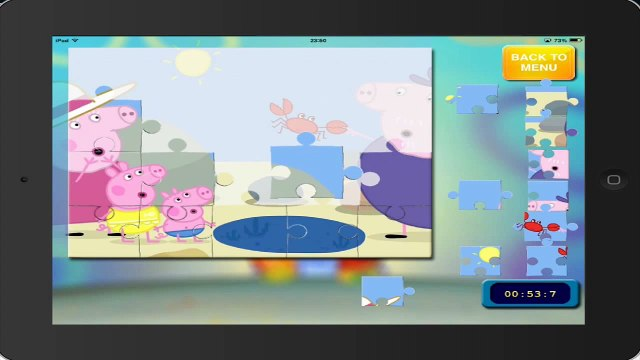 peppa gameplay PEPPA PIG puzzle 16 HD ipad english gameplay pepa pig