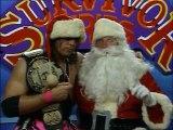 WWF Survivor Series 1992 - Bret Hart With Santa Claus