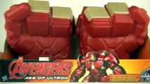 Avengers Hulk Buster Gauntlets Toy Review Unboxing + Hulk Gamma Fists Comparison Hasbro Toys