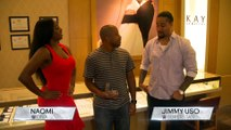 WWE fan Coleco picks an engagement ring with Naomi and Jimmy Uso