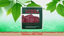 Download  Land and Power Studies in Italian and European Social History 4001200 PDF Online