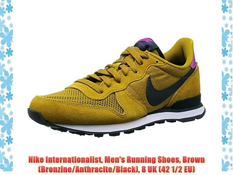 Nike Internationalist Men's Running Shoes Brown (BronzineAnthraciteBlack) 8 UK (42 12 EU)