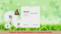 PDF Download  Patent Law Essentials A Concise Guide Read Online