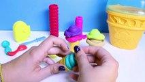 Play Doh Ice Cream Cone Container Playset Playdough Ice Cream Popsicles Sundaes Toys