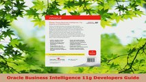 Read  Oracle Business Intelligence 11g Developers Guide PDF Free
