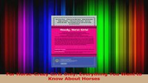 PDF Download  For HorseCrazy Girls Only Everything You Want to Know About Horses PDF Full Ebook