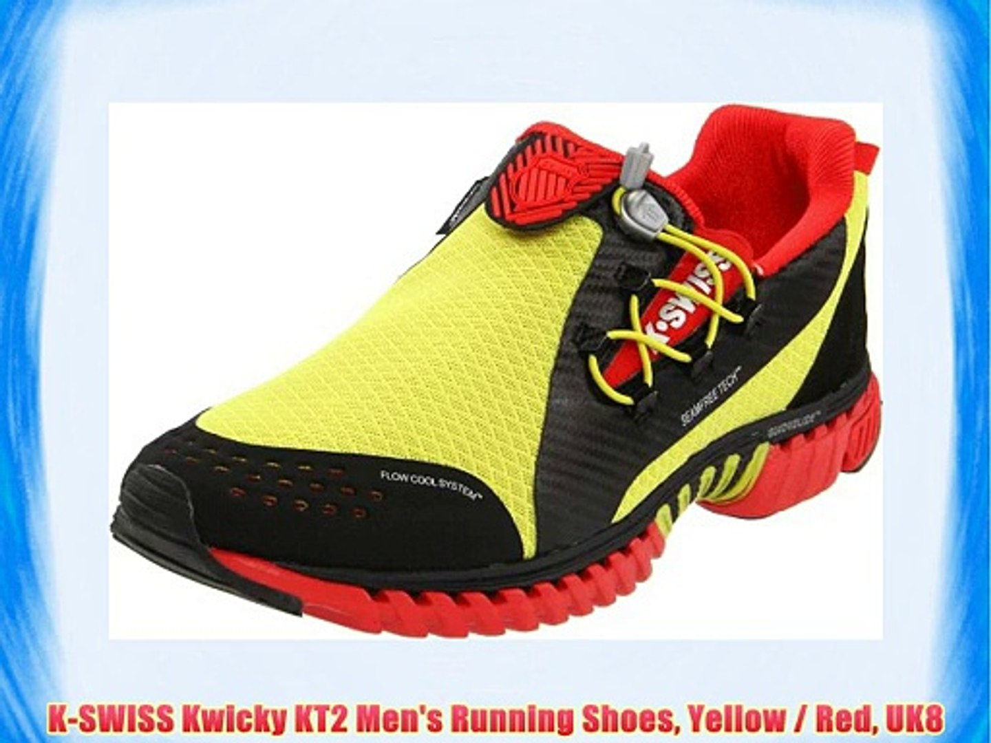 K-SWISS Kwicky KT2 Men's Running Shoes Yellow / Red UK8