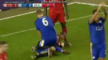 Robert Huth Super Chance To Score Liverpool vs Leicester City 26-12-2015