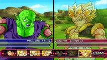 Dragon Ball Z Budokai Tenkaichi 3 : NAMEKIANOS VS FUSIONES ! Piccolo King Piccolo Slug Nail !